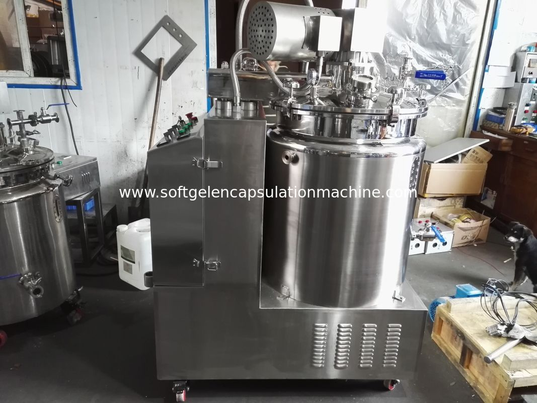 SS316/304 Starch Gelatin Melting Tank With Vacuum And Mix Paddle and platform