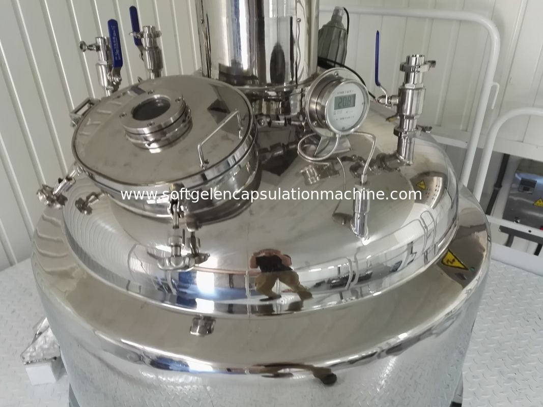600L Gelatin Reactor Three Layers Of Water Bath Heating to 130 degree