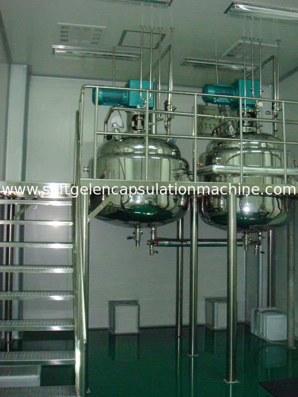 450L Gelatin Melting Tank For Health Products Care Maker / Fish Oil Maker