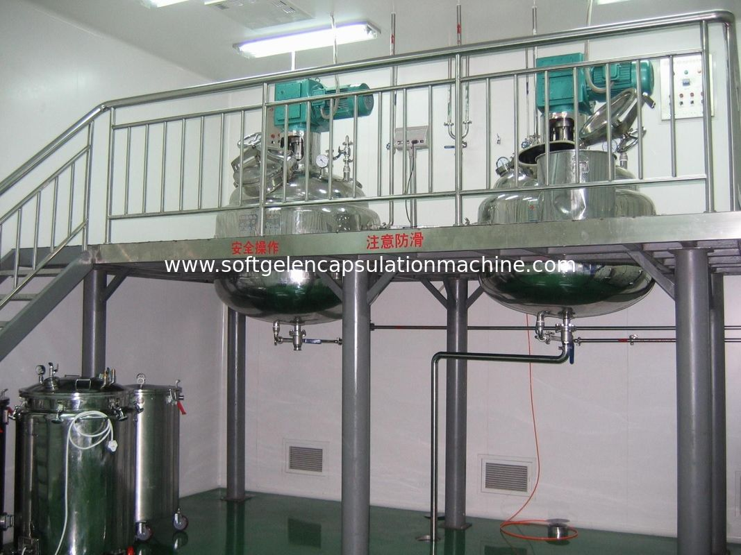 600L Softgel Gelatin Melting Tank With Vacuum Design / Stirring Function with Platform and weight